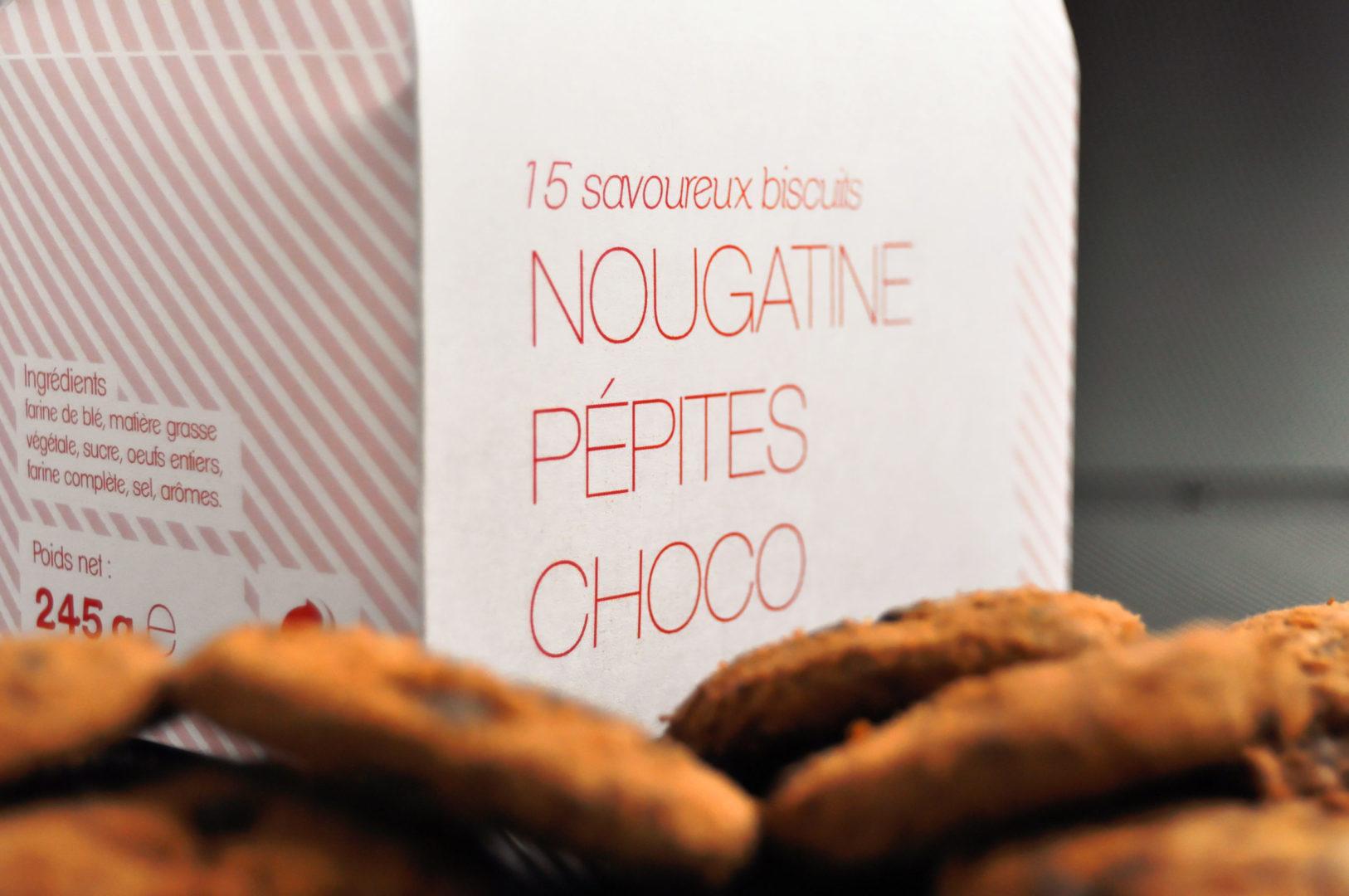 Photo du packaging pour des biscuits - graphisme