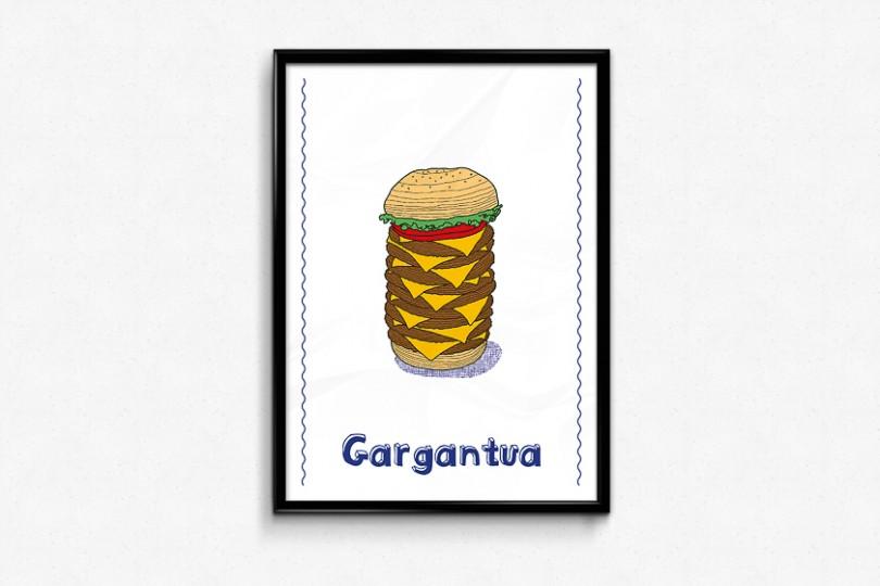 hamburger geant illustration gargantua