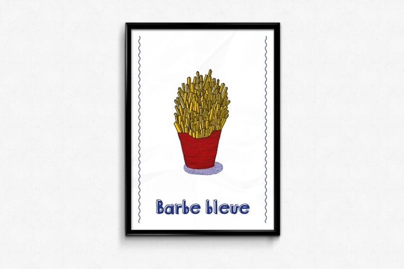 Grande frites illustration barbe bleue