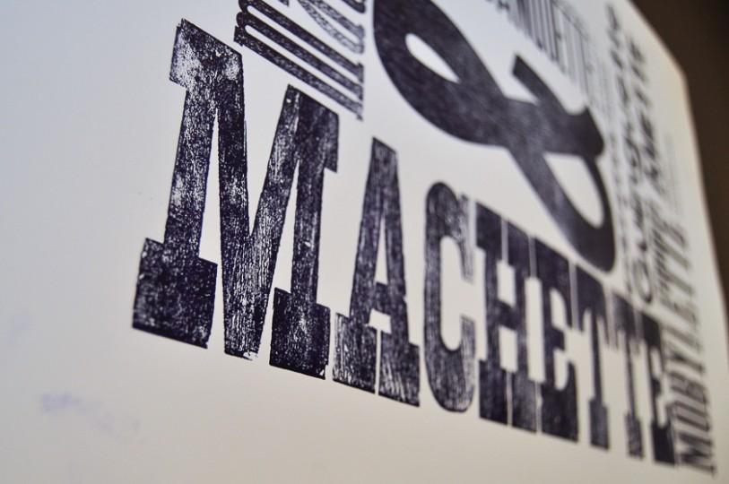 Letterpress bichromie affiche typographie typo machette