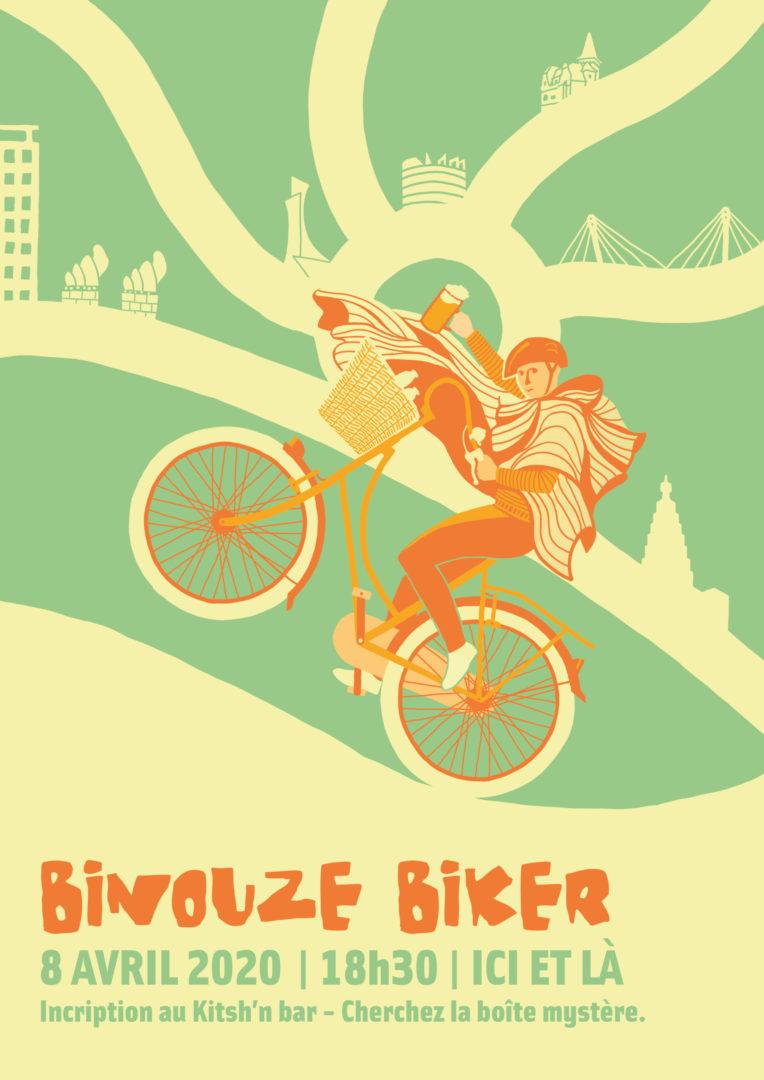Affiche pour une chasse au trésor en vélo